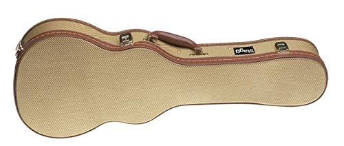Stagg GCX-UKB Tweed Deluxe Hard Case for Baritone Ukulele - Gold