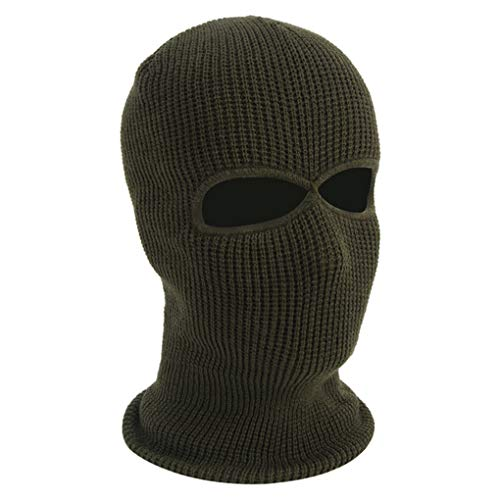 Knit Sew Outdoor Full Face Cover Thermal Ski Mask Motorcycle Windshield Sports Mask (Army Green)