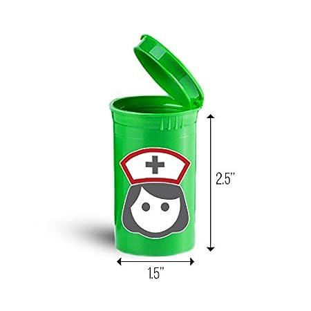 Olyaprint Nurse Medicine Symbol Storage Organizer Bin For Vitamins