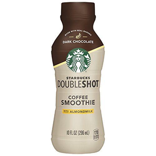 Starbucks Doubleshot Coffee Smoothie, Dark Chocolate with Almond Milk, 10 Ounce, 8 (Double Milk)