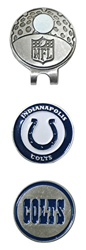 Team Golf NFL Indianapolis Colts Golf Cap Clip with 2 Removable Double-Sided Enamel Magnetic Ball Markers, Attaches Easily to Hats