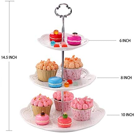 made from vintage China Cute Mini Cake Free Shipping Cupcake or Cookie Plate on a pedestal