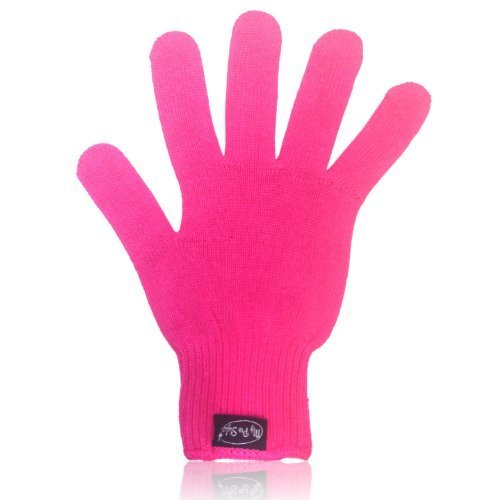 PINK Heat Resistant Glove for Flat / Curling Irons & Other Hot Hair Styling Tools By MyProStyler