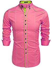 Amazon.com: Pink - Casual Button-Down Shirts / Shirts: Clothing ...