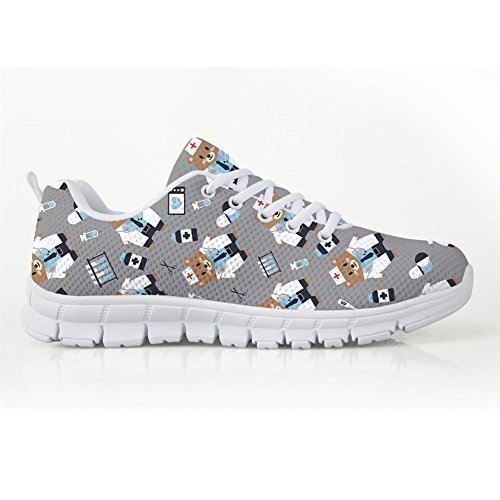 Flat Lightweigh Walking Running Casual Coloranimal 2 US5 Shoes Bears Nurse Mesh 12 Sneakers XqZndg