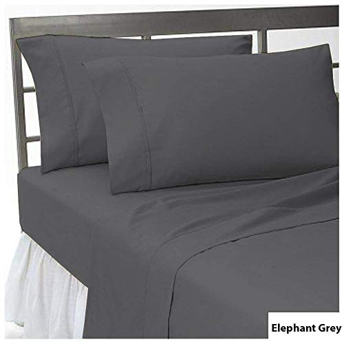 HS Linen Flat Sheet Genuine HOTEL QUALITY 100% Egyptian Cotton 600 Thread Count 1 Piece Flat Sheet (Top Sheet) Available In Many Attractive Solid Colors (White) King - Size Sheet King Dimensions Flat