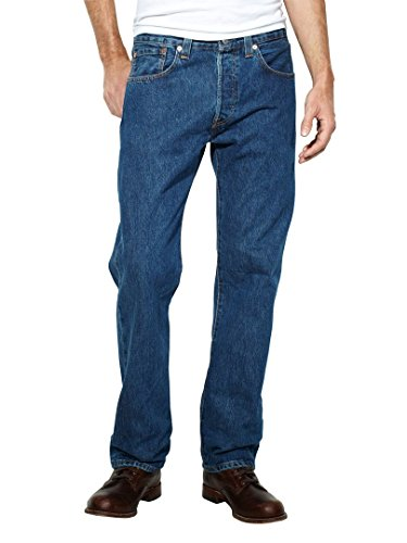 Levi's Mens 501 Regular Straight-Leg Denim Jeans Blue Size 34 Length 32 (Us)