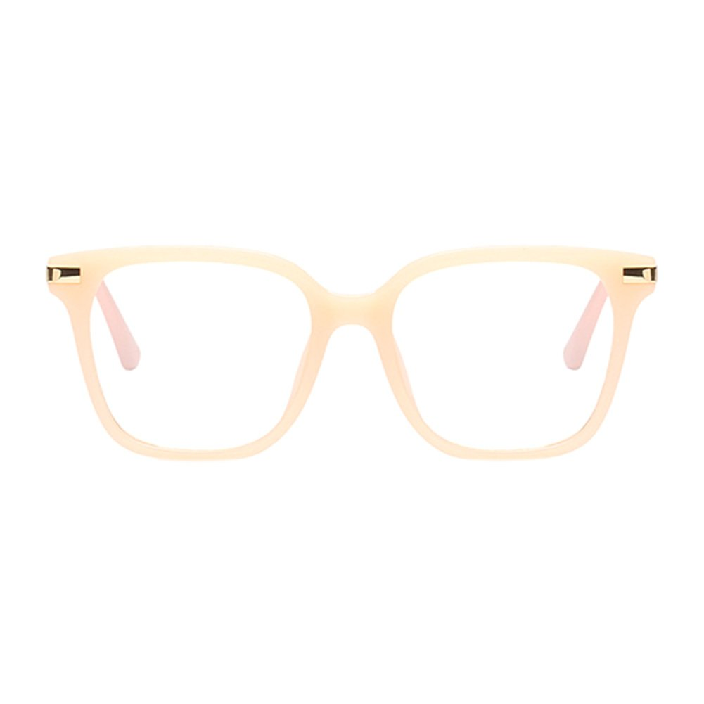 61d2b4e75e Hzjundasi Fashion Oversized Square Frame Ultralight Clear Lens Full Frame  Glasses Optical Eyeglasses UV400 Eyewear for Men Women  Amazon.co.uk   Clothing