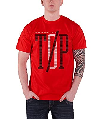 21 Twenty One Pilots T Shirt Top Band Logo Clique Album Official Mens Red