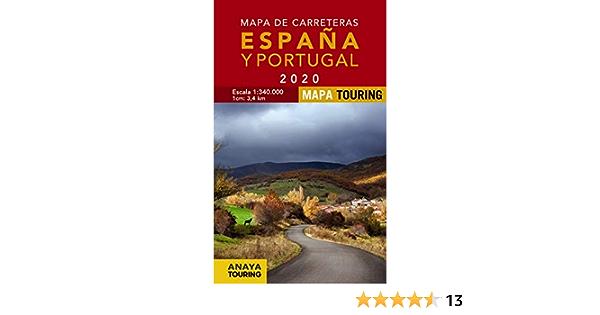 Mapa de Carreteras de España y Portugal 1:340.000, 2020 Mapa Touring: Amazon.es: Anaya Touring: Libros