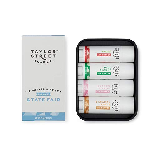 Taylor Soap Co, 4 Pack Lip Butter Tin, Gift Set (State Fair) by Taylor Soap Co