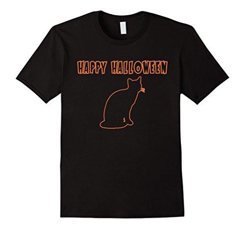 Men's Cat - Happy Halloween Costume T-Shirt 3XL Black (Halaween Costume)