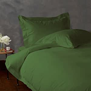 Lacasa Bedding Factory Packed 100 Percent Egyptian Cotton Duvet Cover 300 TC Solid ( Full XL , Moss )