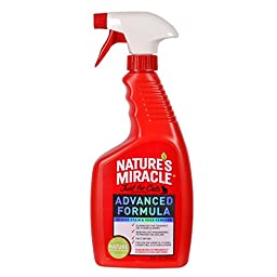 Nature\'s Miracle Just for Cats Advanced Formula Severe Stain & Odor Remover, 24-Ounce Spray (P-5723)