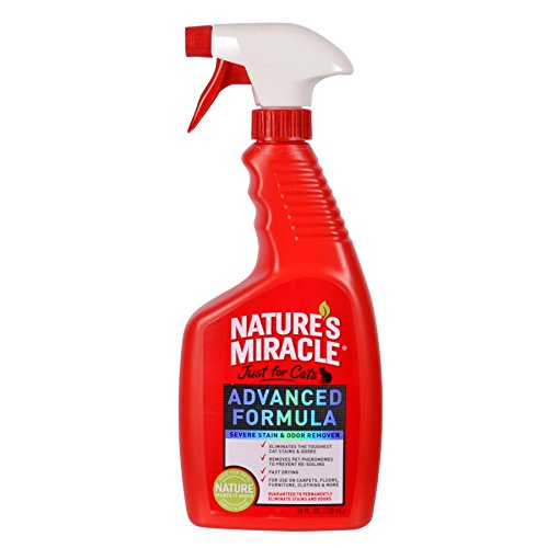 Nature's Miracle Just for Cats Advanced Formula Severe Stain & Odor Remover, 24-Ounce Spray (P-5723)
