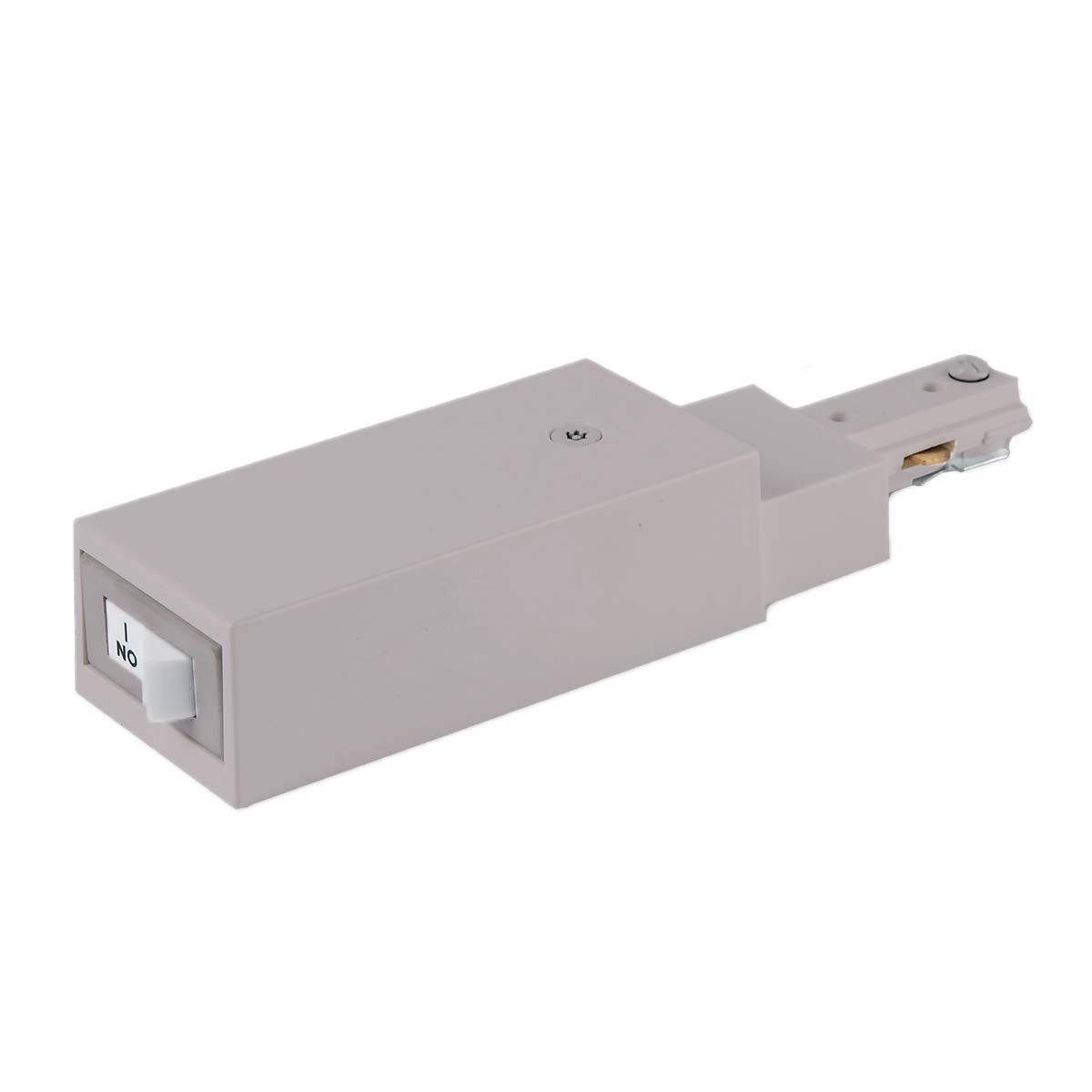 WAC Lighting THL-HLES-5A-BN H Slim Live End Connector Current Limiter with Switch Track Accessory WAC Limited