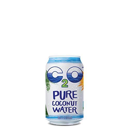 C2O Pure Coconut Water | Plant Based | Non-GMO | No Added Sugar | Essential Electrolytes | 10.5 FL OZ (Pack of 24) (Best Quality Coconut Water)