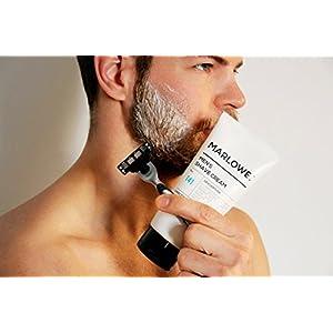 MARLOWE. No. 141 Men's Shave Cream 6 oz   Natural Shea Butter & Coconut Oil Shaving Cream   Aloe & Citrus Scent