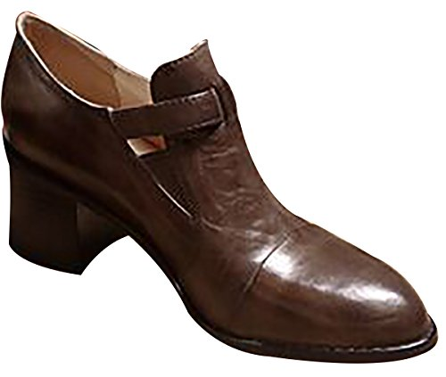 Heeled Laruise Leather Bronze Women's High Shoes wwT4pxZ
