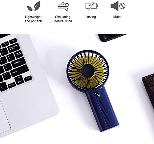GHP F02 Multi-Function Portable Adjustable Mini USB Charging Phone Holder Handheld Small Fan with 3 Speed Control Dark Blue Mini Fan Color : Dark Blue