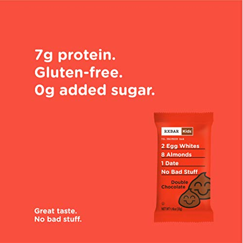RXBAR Kids Real Food Protein Bar, Double Chocolate, Gluten Free, 1.16oz Bars, 30 Count by RXBAR (Image #4)