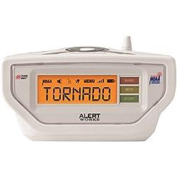 Alert Works Weather Radio All Hazard Radio,White (EAR-10WH)