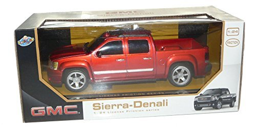 Lollipop Toys GMC Sierra Denali Pickup Truck 1:24 Friction Series Red (Diecast Gmc Yukon)