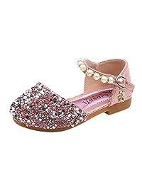 Banstore Toddler Infant Girls Pearl Bling Sequins Single Princess Shoes Sandals