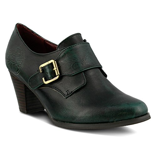 LArtiste by Spring Step Womens Pali Slip On Green Leather