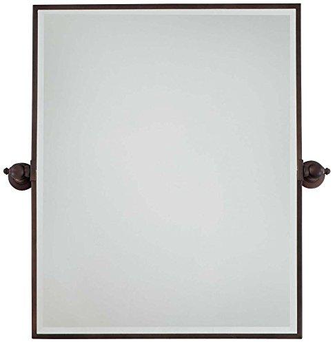 Minka Lavery 1441-267 Rectangular Bath Mirror, X-Large, Dark Brushed Bronze (Plated) Finish (Bronze Mirror Brushed)