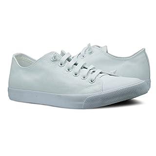 Burnetie Women's White Canvas Ox Low top Sneaker 11 M US