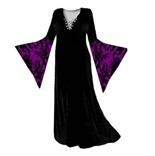Sanctuarie Designs Women's Purple Gothic Sorceress Plus Size Supersize Halloween Costume Dress/4x/Purple/