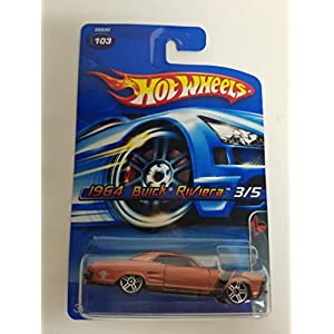 1964 Buick Riviera Candy Bronze Color Muscle Mania 3 of 5 2005 Editions Hot Wheels diecast car No. 103