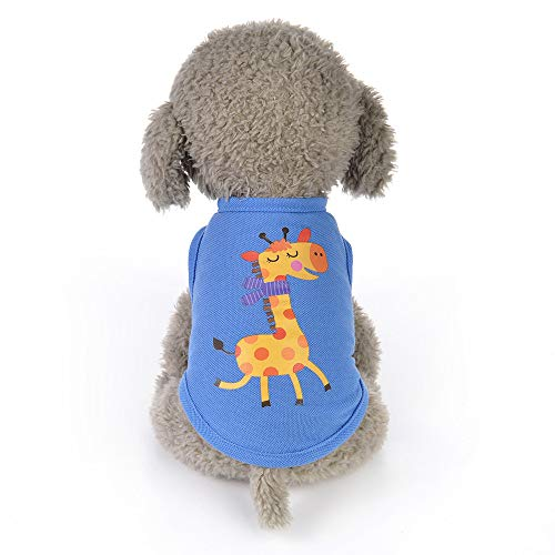 callm Dog Clothes 2019 Summer Animals Cartoon Vest Dog Puppy Costumes Pet Clothes ()