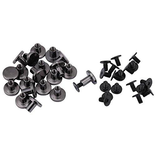 20sets Screw Rivet, Brass Flat Head Belt Strap Rivets + Screw for Luggage Leather Craft 5mm 8mm(8mm) ()