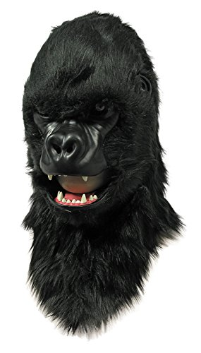 Moving Mouth Adult Mask, Gorilla (Plush Gorilla Mask)