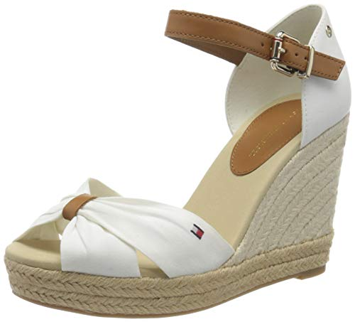 Tommy Hilfiger Damen Basic Opened Toe High Wedge Peeptoe Sandalen