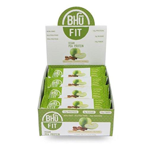 BHU BAR Apple Chunk Cinnamon Nutmeg Protein BAR Pack of 12