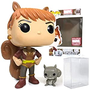 41jbZ%2BMkhlL. SS300 Marvel: Squirrel Girl Collectors Corps Exclusive Funko Pop! Vinyl Figure (Includes Compatible Pop Box Protector Case)