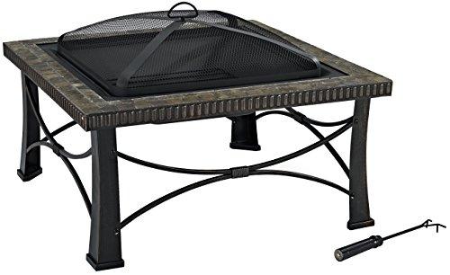 Crosley Furniture Firestone Square Outdoor Slate Fire Pit - Black