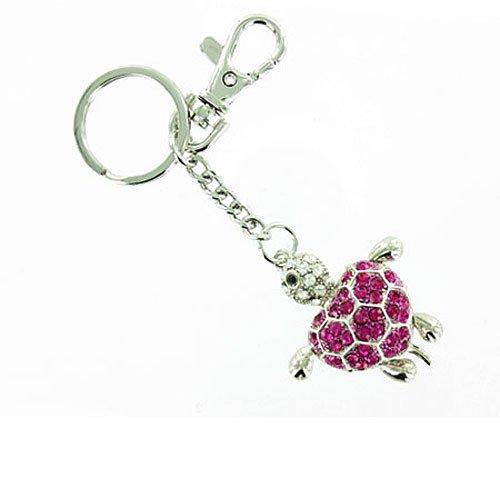Rosa de plata llavero de tortuga/bolso encanto: Amazon.es ...