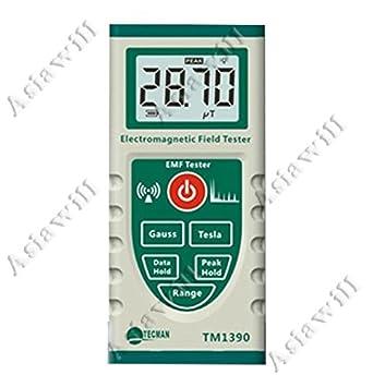 Campo electromagnético fuerza medidor EMF Detector - Blanco + color verde oscuro: Amazon.es: Industria, empresas y ciencia