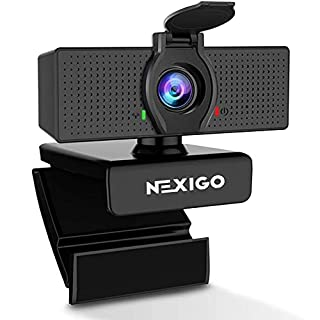 1080P Business Webcam with Microphone & Privacy Cover, 2020 NexiGo N60 USB HD Camera, 110-degree Wide Angle, Plug and Play, Computer Camera