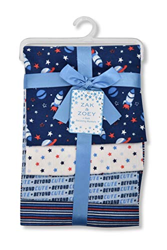 - Zak and Zoey Lovable and Cozy 4-Pack Receiving Baby Blankets - 100% Cotton 26