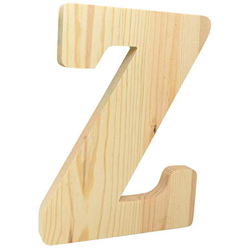 8 inch Chunky Unfinished Wood Letter Z