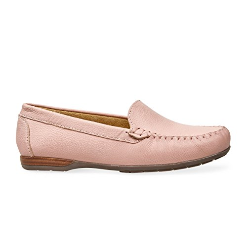 Van Dal Womens Jemima X Wide Leather Loafers Pink LlasVKY