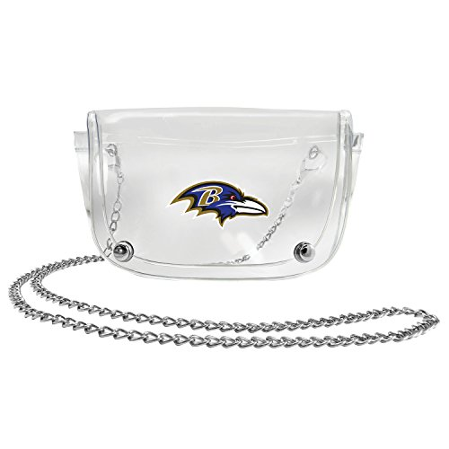 NFL Baltimore Ravens Clear Carryall Crossbody (Raven Body Cross)