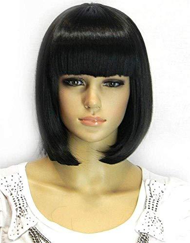 Kalyss Women's Bob Short wig Black Color Heat Resist Cospaly party Hair Wig