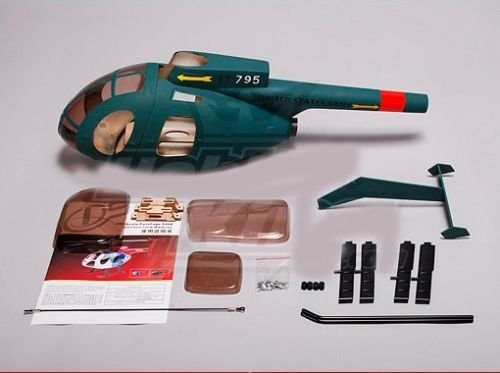KDS Hughes MD500 Army Fiberglass Scale Fuselage Body Trex Align 450 RC  helicopter