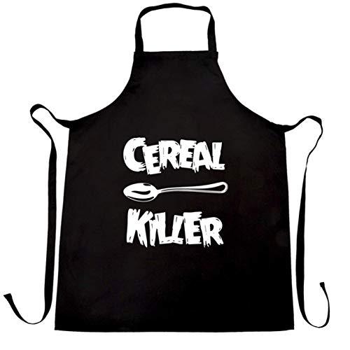 Ashasds Custom Chef Apron Funny Breakfast Chefs Apron Spoon Cereal Killer Joke Women Men Barber -